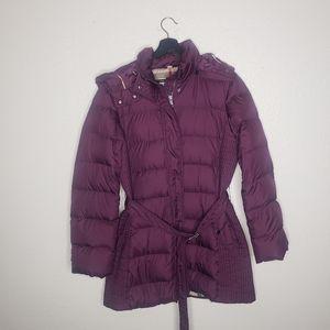 Burberry Brit Winterleigh Puffer Purple Down Coat